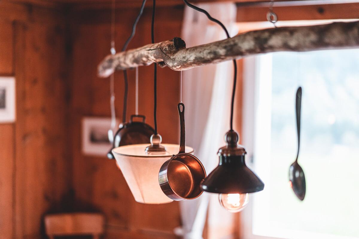 Ideenhaus Lampe aus Treibholz